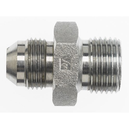 6 Units Brennan 1//4 in Male British Standard Pipe Parallel x 1//4 in Male JIC 37/° Flare Straight Adapter