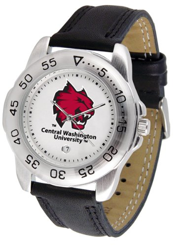 SunTime Central Washington Wildcats Gameday Sport Men's Watch