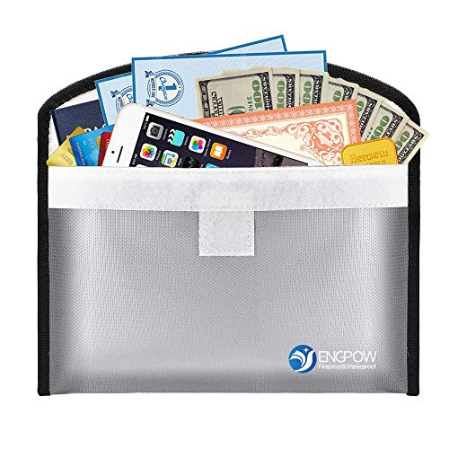 (Fireproof Money Bag for Cash 10.2