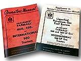 owners manual tractors - International Farmall 460 560 Lp Tractor Owner Operators Manual Lpg Gas Propane