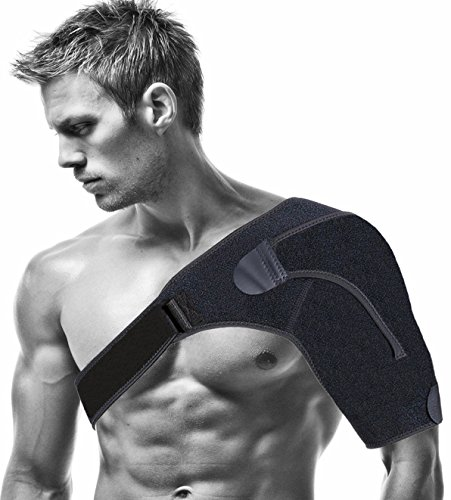 Shoulder Brace - Shoulder Support Sleeve for Arthritis Sports Women and Men - Injury Prevention, Dislocated AC Joint, Frozen Shoulder Pain, Sprain, Soreness, Bursitis, Tendinitis (Average Recovery Time For Rotator Cuff Surgery)