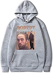 Robert Pattinson Standing Meme Print Hoodie Men Women Classic Cotton Hoodies Retro Sweatshirt Fashion Pattern