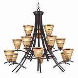 Kenroy Home 90088ORB Wright 15 Light Chandelier
