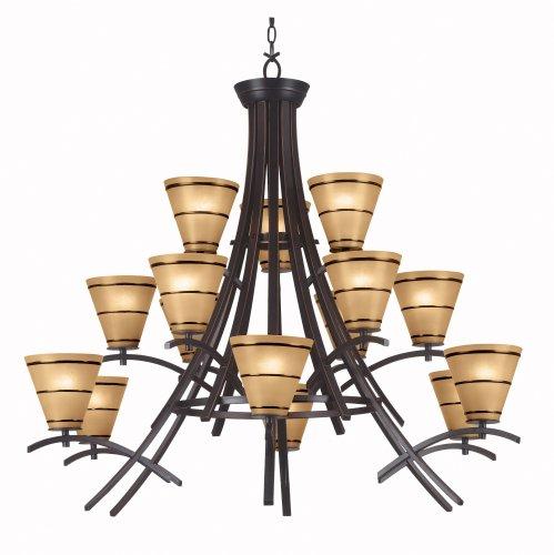 Hunter Kenroy Bronze Sconce (Kenroy Home 90088ORB Wright 15 Light Chandelier)