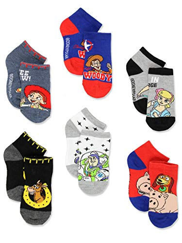 Disney Toy Story 4 Toddler Teen Boy's Girl's Adults 6 pack Sock Set (4-6 Toddler (Shoe: 7-10), Blue/Multi) from Disney