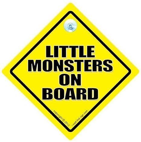 little monsters a bordo señal de coche, Baby on Board , bebé ...