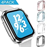 GONJOY Apple Watch Series 4 44mm Case Protector, [4 - Pack Colorful] Soft TPU Protective Cover Bumper Case Compatible with Apple iWatch Series 4 44mm & Series 3 Series 2 42mm