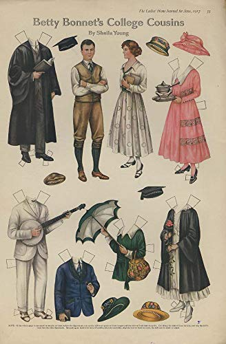 Betty Bonnet's College Cousins by Sheila Young paper doll page 1917