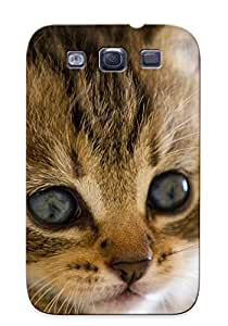 Quality Exultantor Case Cover With Eyes Cats Blue Eyes Animals Bales Kiens Tagnotallowedtoosubjective Begging Nice Appearance Compatible With Galaxy S3()