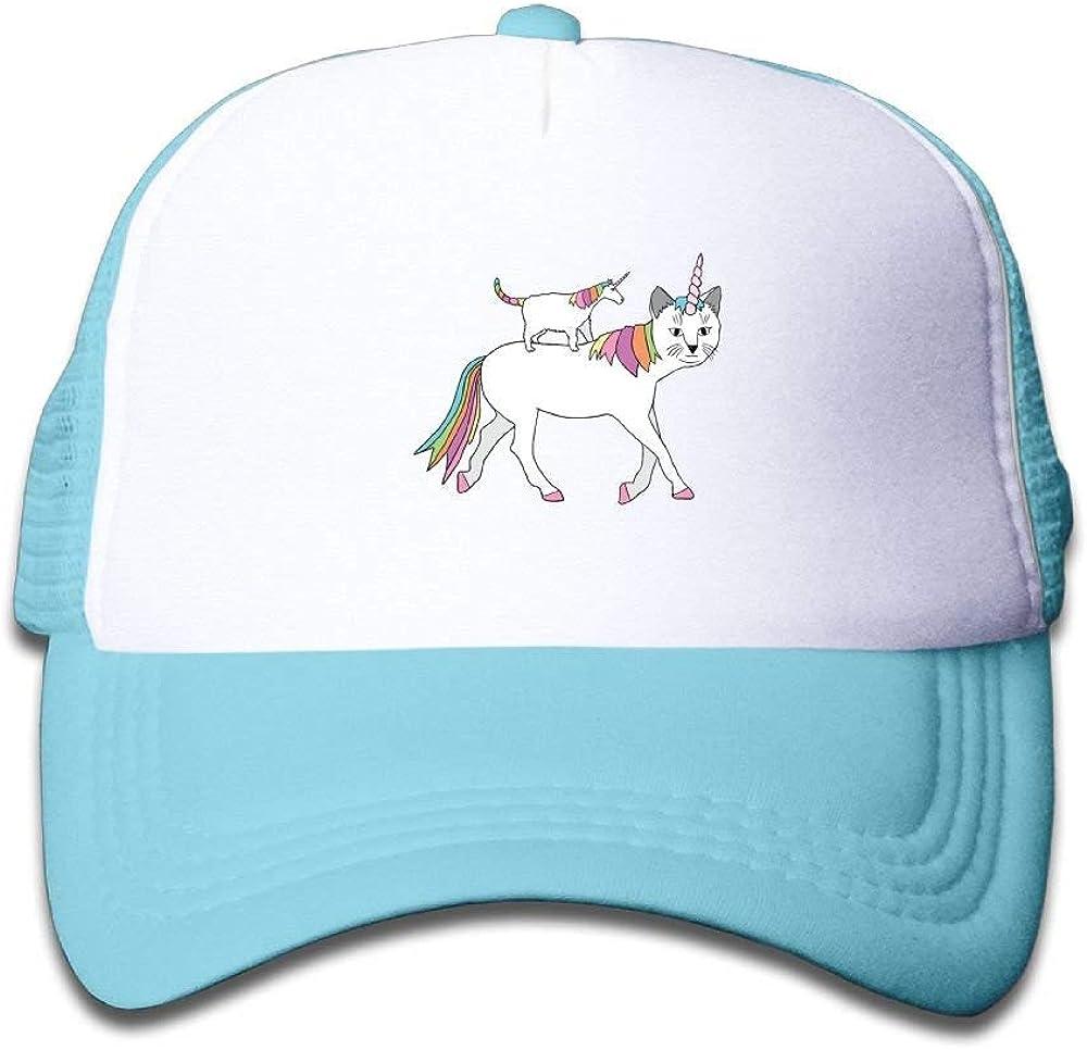 Xu Li Piang Trucker Cap Boy and Girl Cat-Unicorn On Unicorn-Cat Mesh Baseball Hat