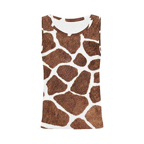 INTERESTPRINT Giraffe Spots Tank Tops for Women Sleeveless Tops Workout S
