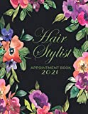 Hairstylist Appointment Book 2021: Hairdresser