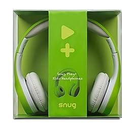 Snug Play+ Kids Headphones Volume Limiting and Audio Sharing Port (Green)