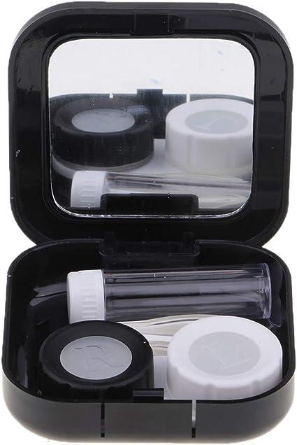 1 pieza Caja con lentillas con Pinzas Belleza Espejo para Mujeres Maquillaje Viaje: Amazon.es: Belleza