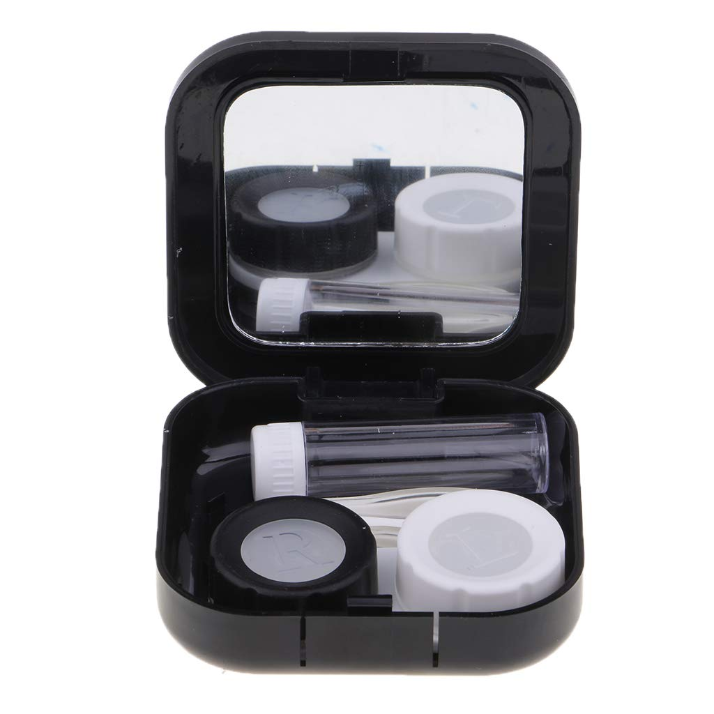 SM SunniMix Cute Contact Lens Case Insert Tweezer Holder Storage Box Travel Container