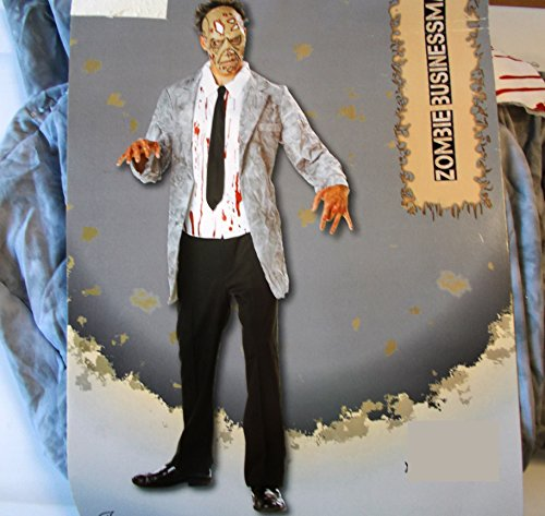 Zombie Businessman Adult Costume Mask 40-42 (Businessman Zombie Costume)