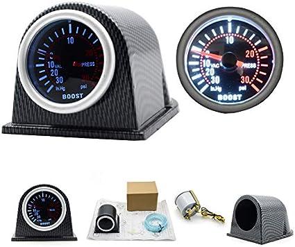Romdink Turbo Ladedruckanzeige PSI Gauge 252mm Auto Universal 12V LED Digital Front Turbo Ladedruckanzeige Meter Kit