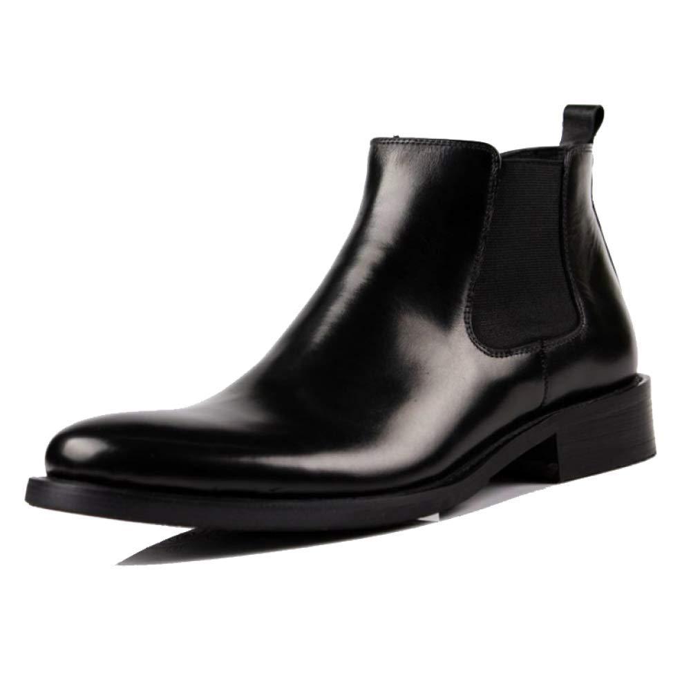 2d1be3e0d3ec ZPEDY Herrenschuhe, Lederschuhe, High Top Schuhe, schwarz Martin Stiefel,  Atmungsaktiv, Bequem schwarz Schuhe, 5250ff