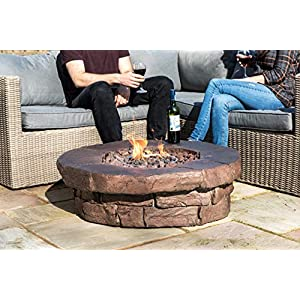 Peaktop Outdoor 36 Inch Round Propane Gas Fire Pit
