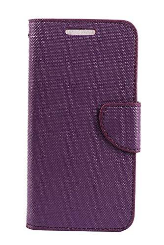 Purple Eyes ANS Mercury Wallet Flip Case Cover for Micromax Yu Yuphoria 5010 Purple