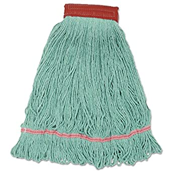 Boardwalk LM30314L Wideband Looped-End Mop Heads, Large, Green (Case of 12)