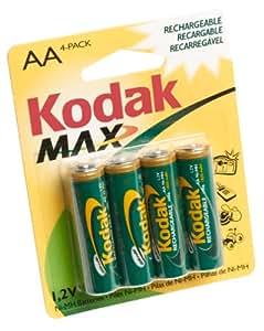 Kodak Max 4 NiMH 1600mAh Rechargeable AA Batteries