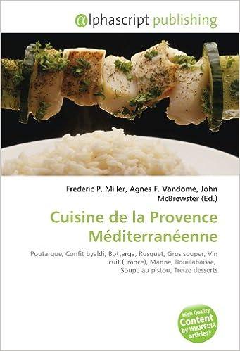 Amazon Fr Cuisine De La Provence Mediterraneenne