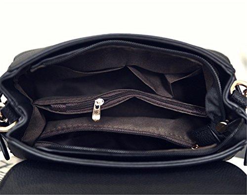 Handle Purple Bag Women Shoulder Messenger Handbags Satchel Bags Nodykka Crossbody Leather Top CZ0HqHw