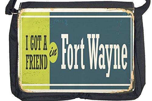 Borsa Tracolla Voglia Viaggiare Città Fort Wayne USA Stampato