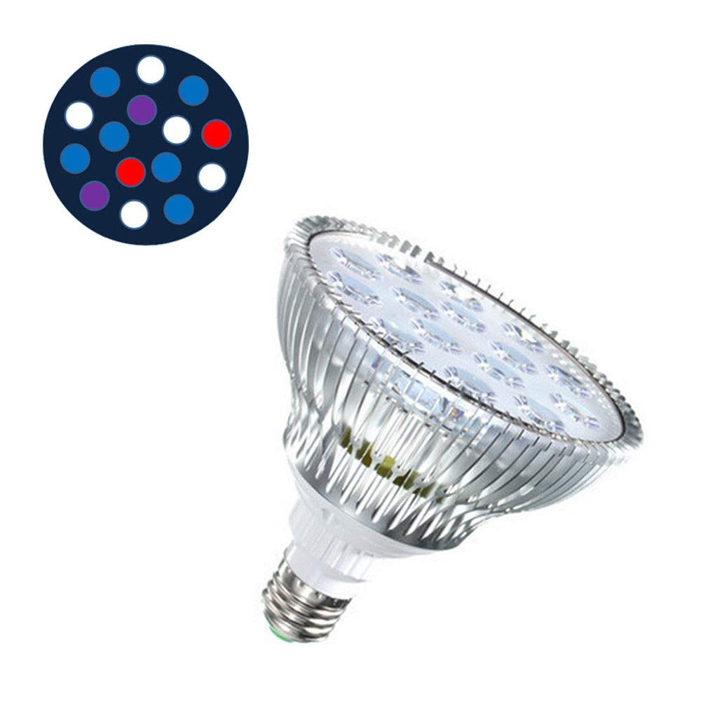15C FidgetFidget 45W E27 LED Aquarium Light Fixture Par38 Coral Reef Lamp LED Bulbs for LPS SPS 15C