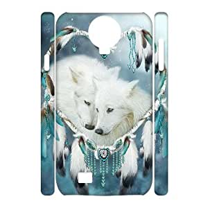 Diy Dream Catcher and Wolf Animal Phone Case for samsung galaxy s4 3D Shell Phone JFLIFE(TM) [Pattern-1]