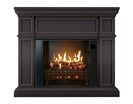 amazon com magikflame electric fireplace and mantel artemis dark rh amazon com  buy fake fireplace logs