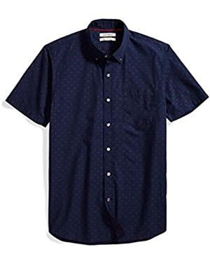 Men's Slim-Fit Short-Sleeve Dobby Shirt