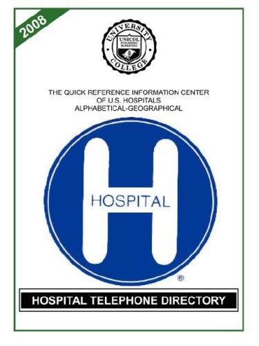 Hospital Telephone Directory, 2008 Edition (Hospital Telephones)