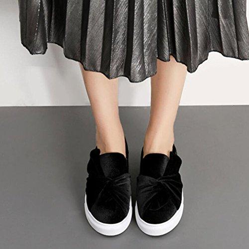Scarpe nere Décolleté Scarpe Black scamosciata in piatta blu pelle Scarpe Retro GAOLIXIA corte Donna casual xSwzAPqn0w