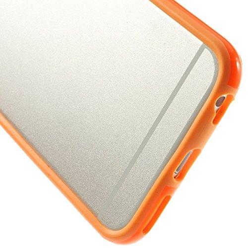 "iProtect Protection Frame Apple iPhone 6 (4,7"") Bumper Schutzhülle orange"