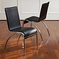 Best Selling Cambridge Modern Chair, Black, Set of 2