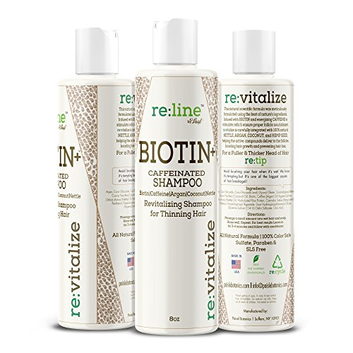 Biotin Shampoo For Hair Growth Caffeine Hair Loss Treatment Natural Shampoo For Thinning Hair Thickening Coconut Argan Oil Safe On Color Treated Hair DHT Blocker For Men Women Sulfate Free