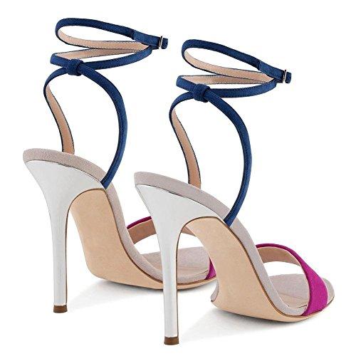 Sandalias Deletrear Alto Señoras Hn Fiesta Zapatos Mirar Correa Color Pie Mujeres Tacón Nocturno Estilete Dedo Club 2 Del Vestir Tobillo Furtivamente Shoes vqw7ZvWOf