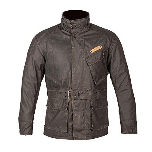 Spada Kidderminister Waterproof Textile Motorcycle Waxed Jacket - Charcoal 2XL ()