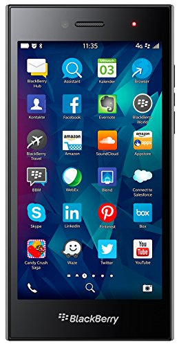 BlackBerry Leap  Smartphone ( 12,7 cm (5 Zoll) Touchscreen, 8 Megapixel Kamera, 16GB Speicher, 10.3.1 BlackBerry Blend) grau