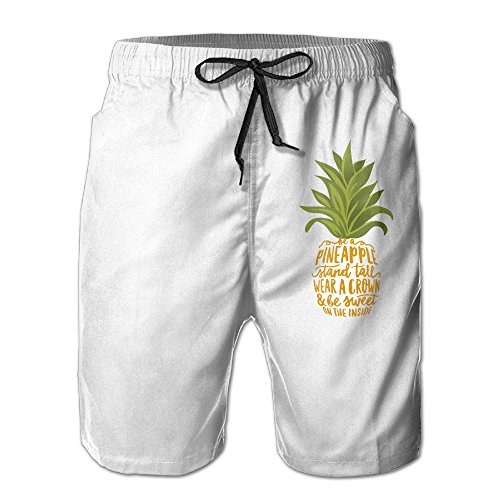 Hailin Tattoo Be A Pineapple Tropical Fruit Men's Pants Dry Fast Suitable For Both Beach And Home Best Choice For Summer (Plus Tropical Fruit)