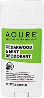 product image for ACURE Cedarwood & Mint Deodorant, 100% Vegan, NSF Certified - Contains Organic Ingredients, Aluminum-Free, Woodsy & Minty Finish Scent, 2.2 Ounce