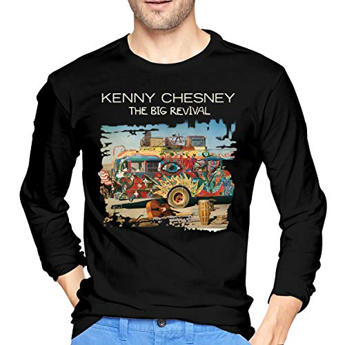 LilianR Kenny Chesney The Big Revival Men's Long Sleeve Tees Black L ()