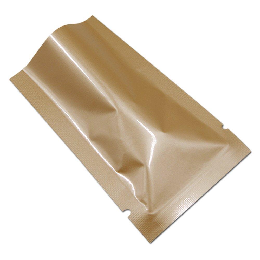 200 Pcs Multi Size-Color Aluminum Foil 3.16mil Mylar Vacuum Heat Seal Pouch Odor Proof Food Storage Bags Notch Bath Salt Lotion Sample Packet (4.7''x7.1'' (4.1''x6.7'' Inner Size)-2.5oz, Orange)