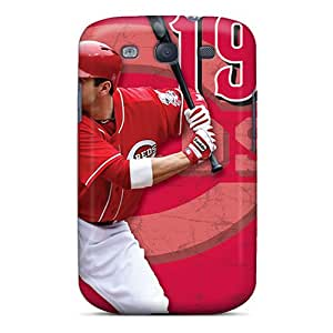 Anti-Scratch Cell-phone Hard Cover For Samsung Galaxy S3 With Support Your Personal Customized High-definition Cincinnati Reds Pictures PhilHolmes