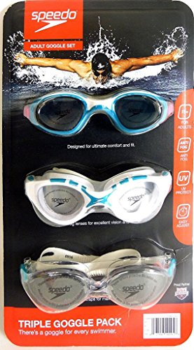 Speedo 3X Goggle Pack Adults 15+