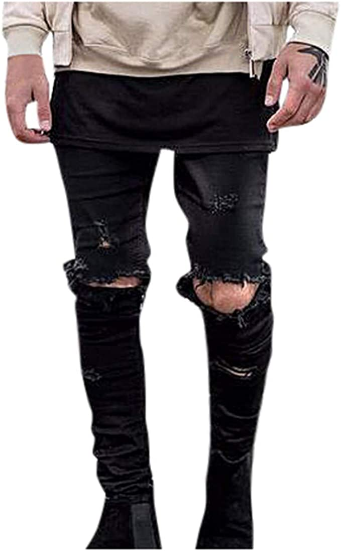 proteina legare piacevole  Amazon.com: EINCcm Mens Ripped Jeans, Mens Black Jeans Skinny Ripped  Destroyed Stretch Slim Fit Hop Hop Pants with Holes for Men: Clothing