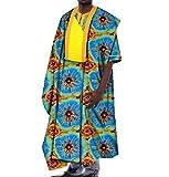 Vska Men's African Dashiki Gowns Plus Size Batik Simplicity T-shirts Five S