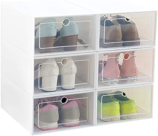 Ruier-hui Caja de Almacenamiento de Zapatos, 6 Paquetes de ...